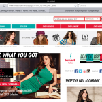 screenshot of kmart landing page