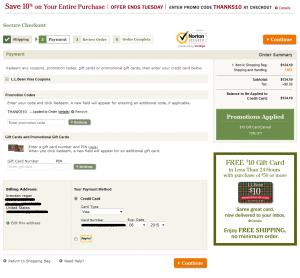ll bean payment pg